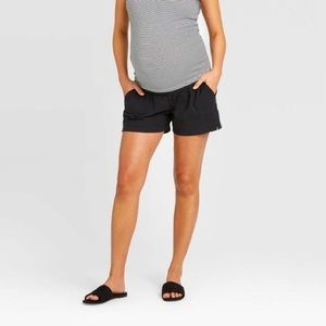 Isabel Maternity Twill Pull-On Shorts